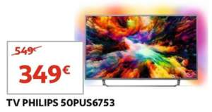 """TV 50"""" Philips 50PUS6753 - 4K UHD, LED, Smart TV, Ambilight (Kirchberg Frontaliers Luxembourg)"""