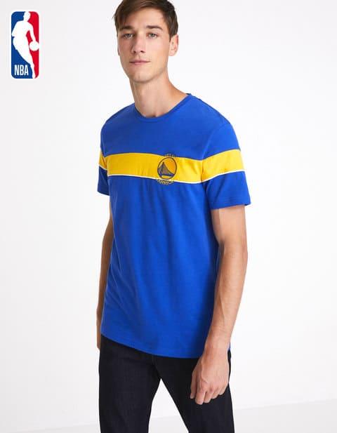 Sélection de tee-shirts licence NBA en promotion - Ex : tee-shirt NBA Golden State Warriors (Bleu)