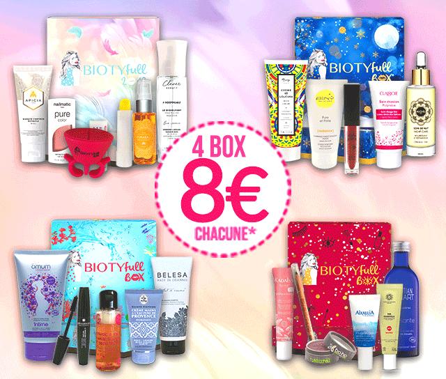 Lot de 4 boxes beauté Biotyfull (22 produits beauté Bio) pour un engagement de 12 mois à une box beauté mensuelle à 32.9€ (BiotyfullBox.fr)