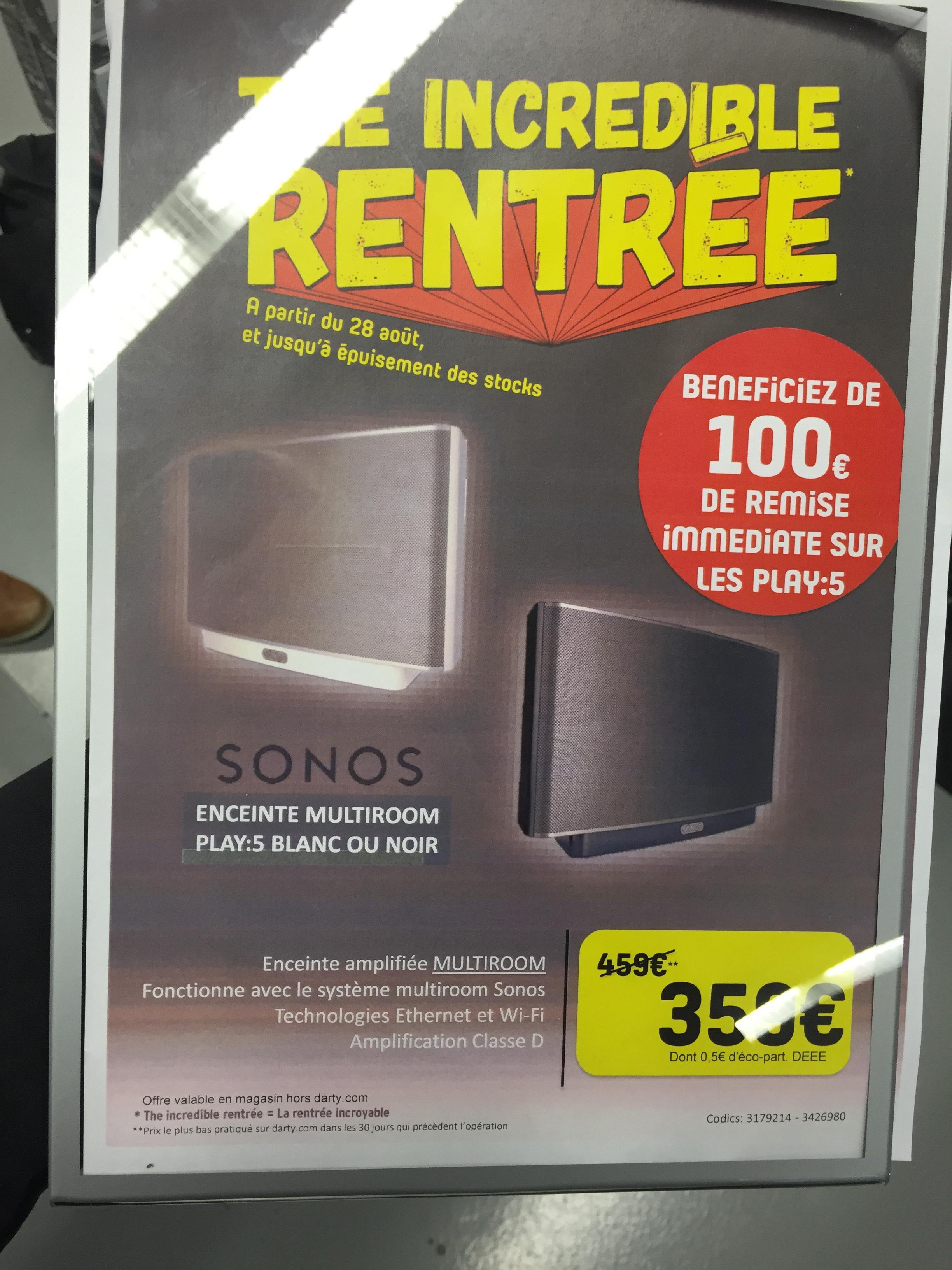 Enceinte multiroom Sonos Play:5