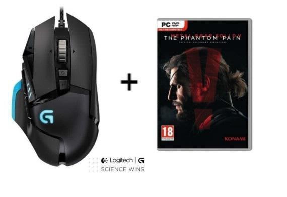 Pack Souris Gaming Logitech G502 Proteus Core +  Metal Gear Solid V : The Phantom Pain sur PC (Version Boîte)