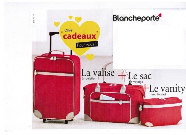 Organiseur de monnaie + Calendrier mémo + Lot de 3 Bagages rouges + Lampe Framboise