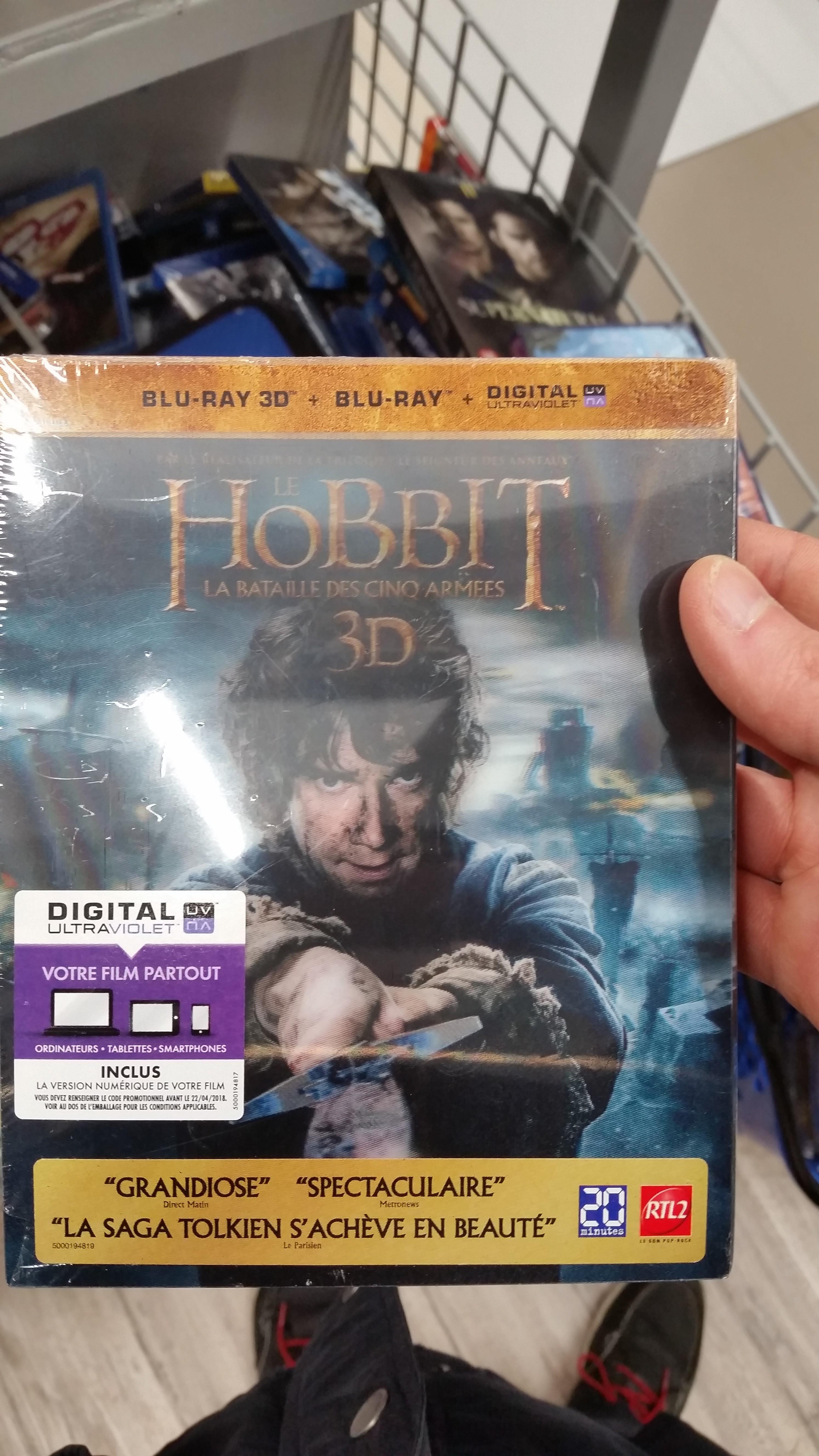 Bluray 3D Hobbit La Bataille des 5 armées - Bluray 3D + Bluray + version numérique - Bois-d'Arcy (78)