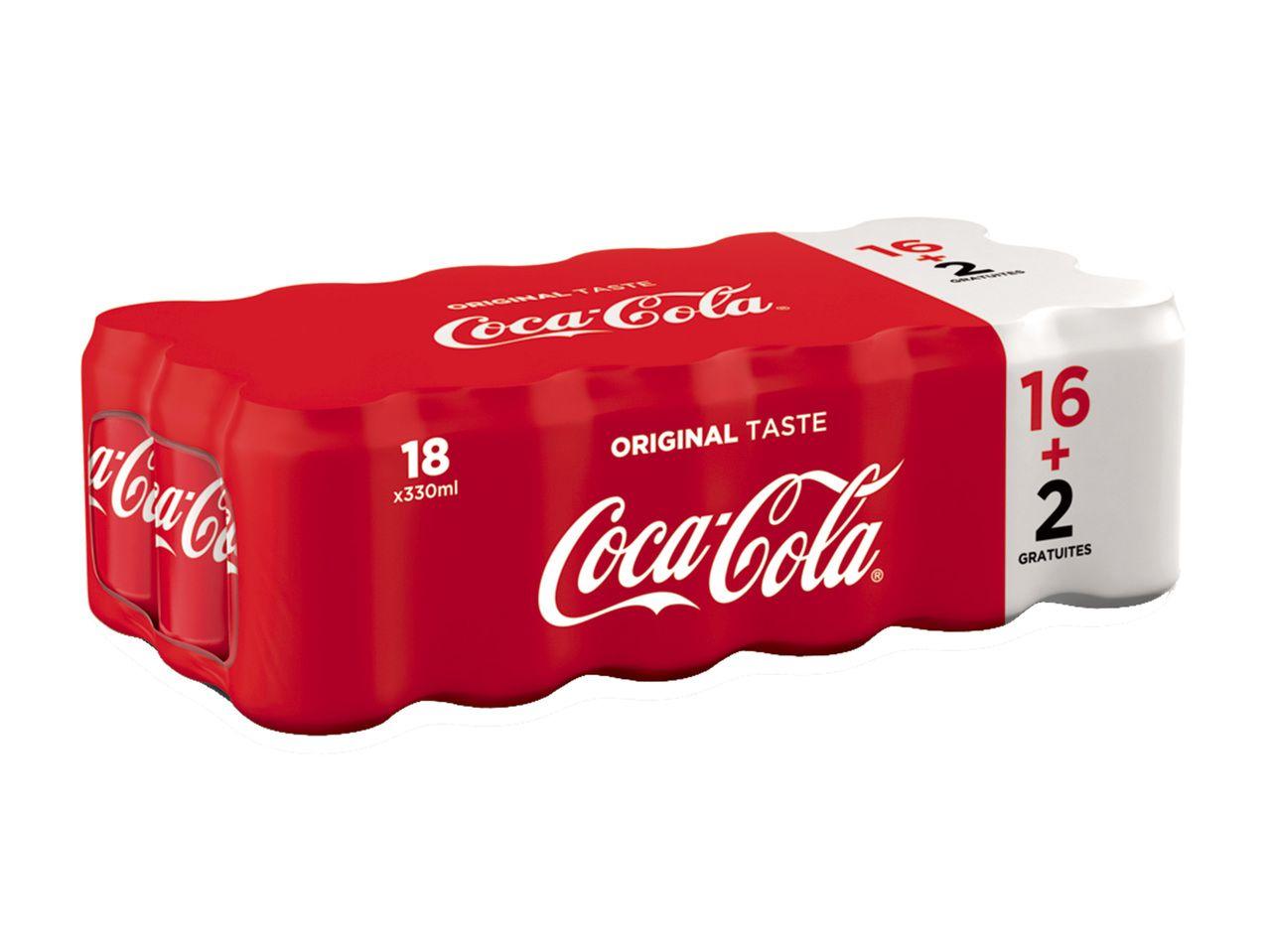 Pack de 18 canettes de Coca-cola - 33cl