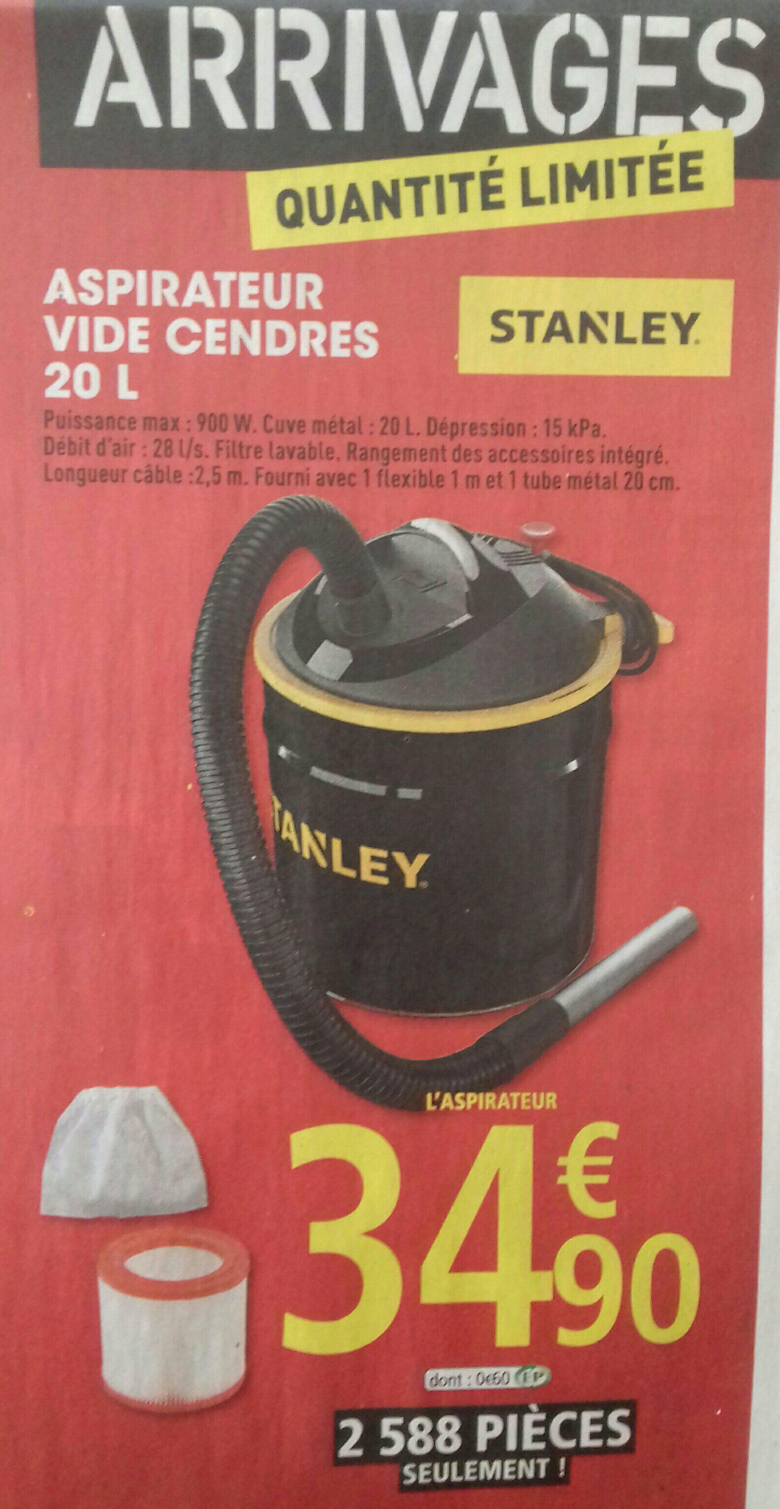 Aspirateur vide cendres STANLEY - 500W, 20L