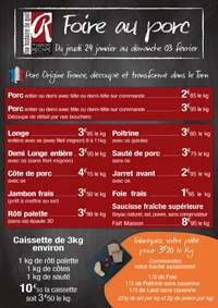 Sélection de produits en promotion lors de la Foire au porc - Ex: Caissette de 3 kg (Recape)