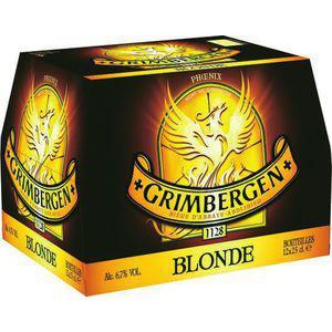2 packs de bières blondes Grimbergen 6,7% vol - 12 x 25cl (via -70% sur le deuxième et BDR)