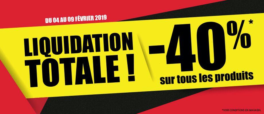40% de réduction sur tout le magasin - Tours (37)