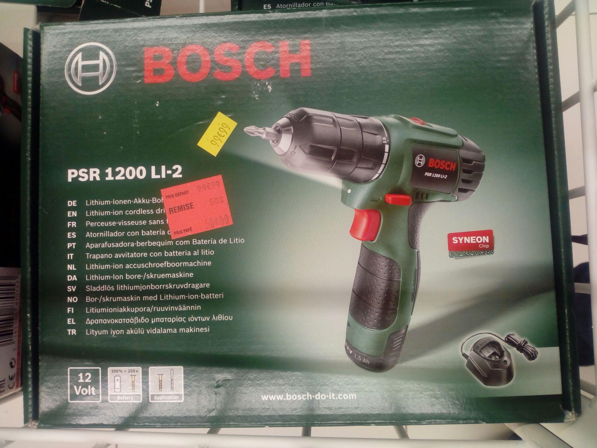 Perceuse-visseuse sans-fil Bosch PSR 1200 LI-2 (12 V) - Portet-sur-Garonne (31)