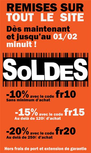 10% de réduction sans minimum d'achat, 15% à partir de 120€ et 20% à partir de 250€ (ledperf.com)