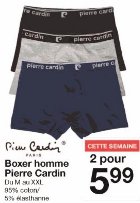 Lot de deux boxer Pierre Cardin - de 3€ l'un!