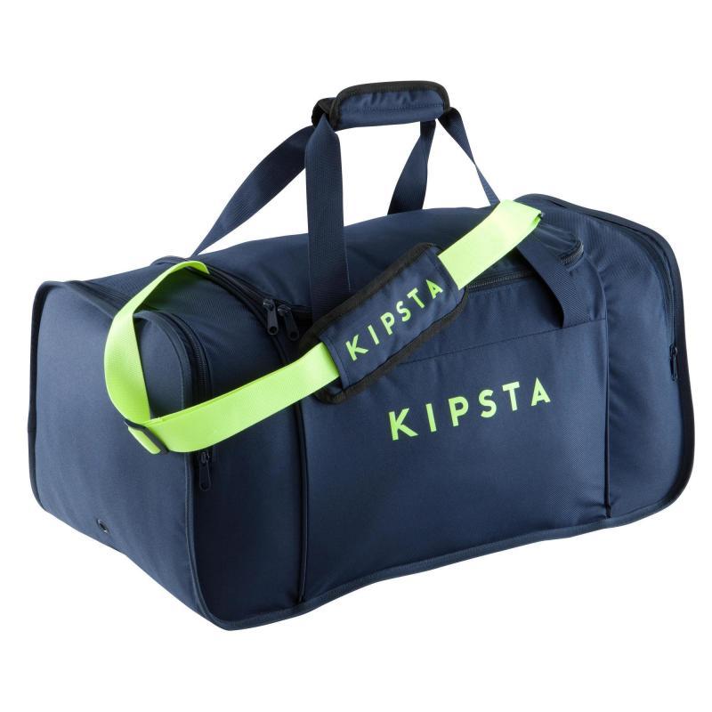 Sac de sport Kipocket Kipsta - Bleu/Jaune Fluo - 60L