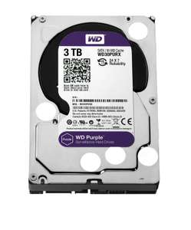 Disque dur Western Digital Purple 3 To (Spécial NAS et vidéosurveillance)