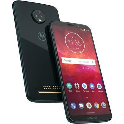 "Smartphone 6"" Motorola Moto Z3 Play Bleu nuit + MODS batterie offerte"