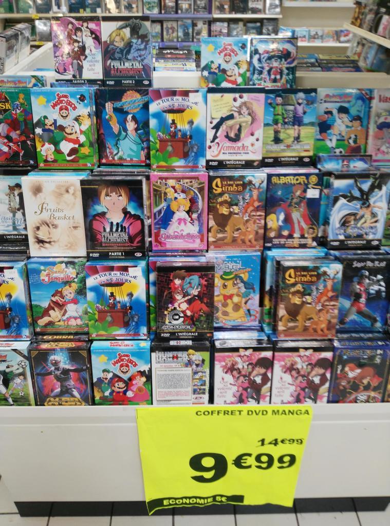 Large choix de coffrets DVD d'animation Japonaise