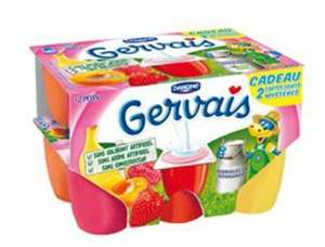 Pack de 18 Gervais aux fruits Danone (via BDR)