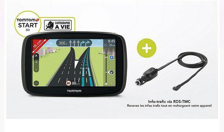GPS Tomtom Start 60 Europe + récepteur Info trafic rds-tmc à vie