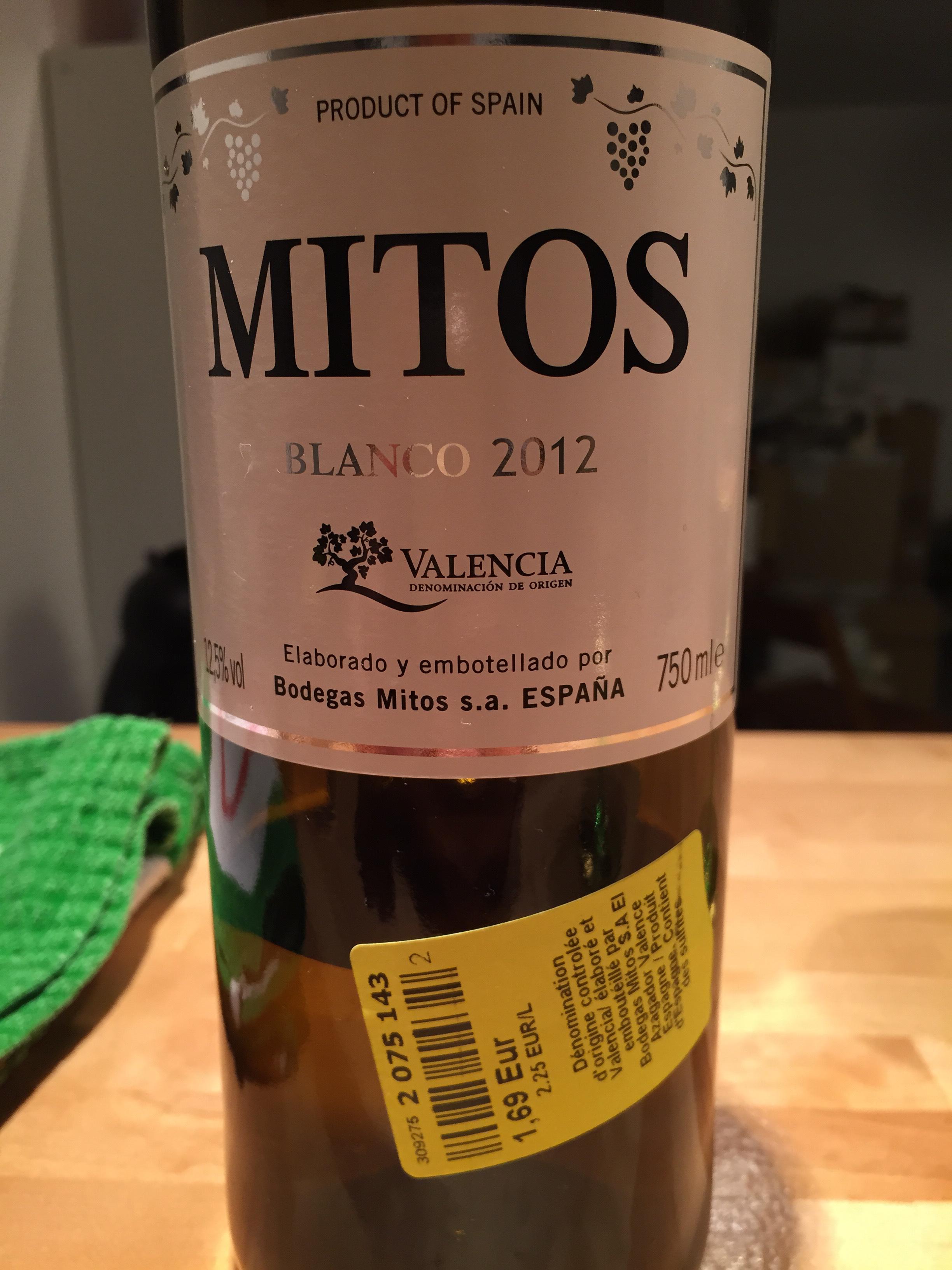 Bouteille de Vin Blanc Mitos 2012 - 750ml