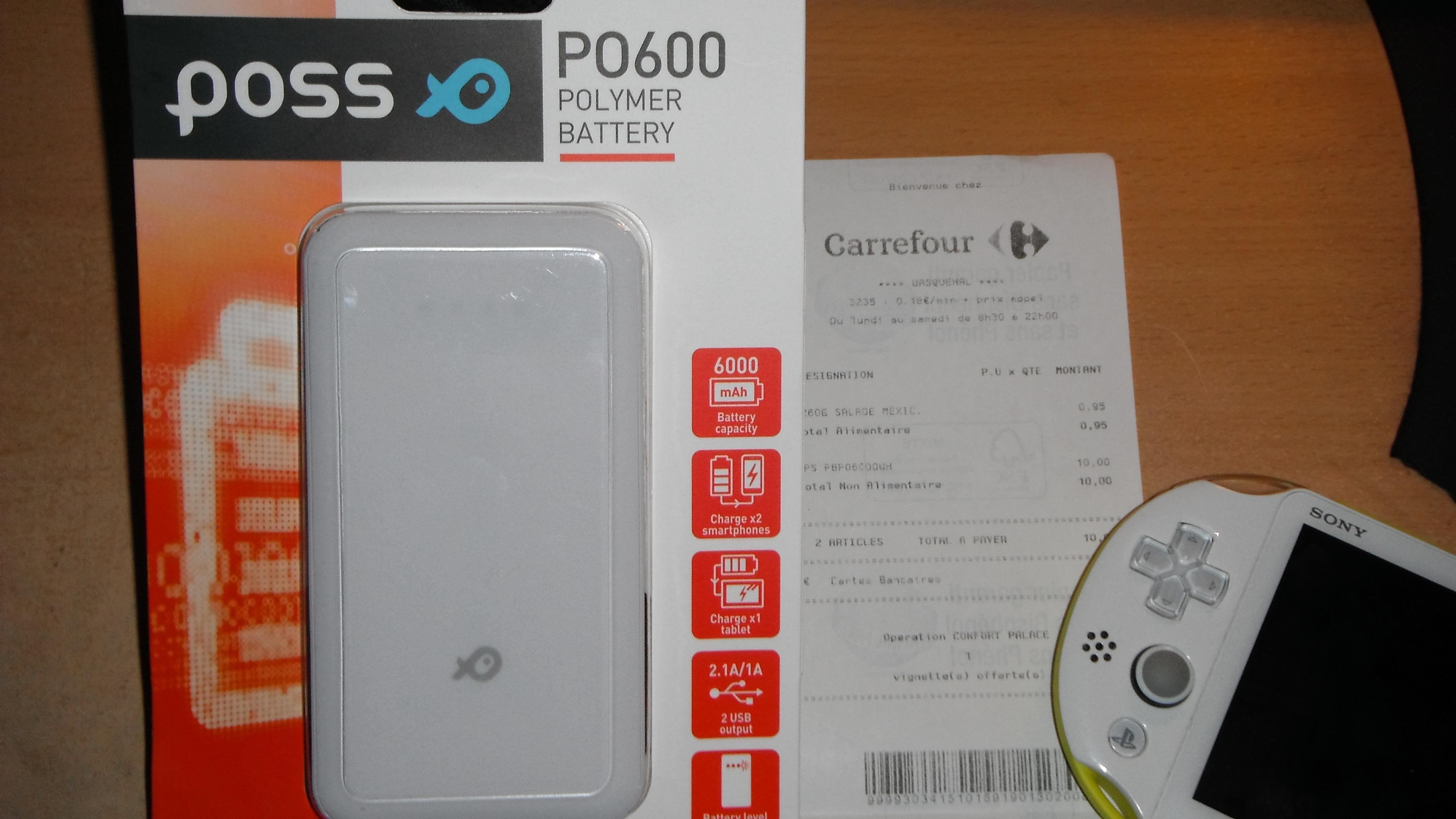 Batterie Externe Poss PO600 - 6000mAh (Carrefour Wasquehal - 59)