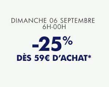 25% de réduction dès 59€ d'achat