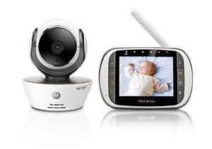 """Babyphone vidéo connecté Wi-Fi avec écran 3.5"""" Motorola MBP853"""