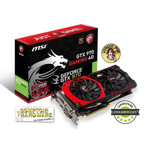 Carte graphique MSI GeForce GTX 970 Gaming 4G, 4 Go + jeu offert