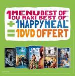 DVD offert pour l'achat d'un menu Best-Of + d'un Happy Meal
