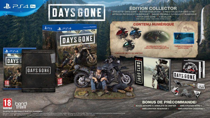 [Précommande] Days Gone Édition Collector/Spéciale sur PS4