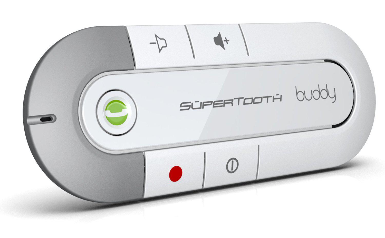 Kit mains-libres Bluetooth - SuperTooth BUDDY Blanc (via ODR 20€)