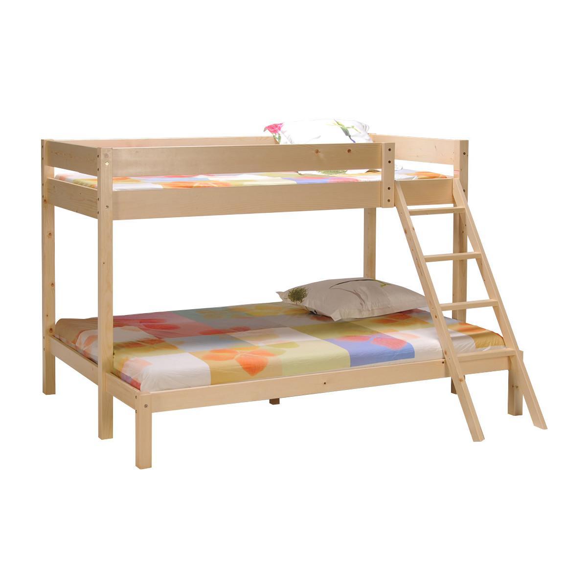 lit superpos tribal 90 140 x 190 cm en pic a massif sommiers 80 sur la carte waaoh. Black Bedroom Furniture Sets. Home Design Ideas