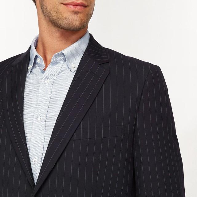 Sélection de vestes de costume La Redoute Collections - Ex : Veste de costume coupe slim rayée, Bleu marine