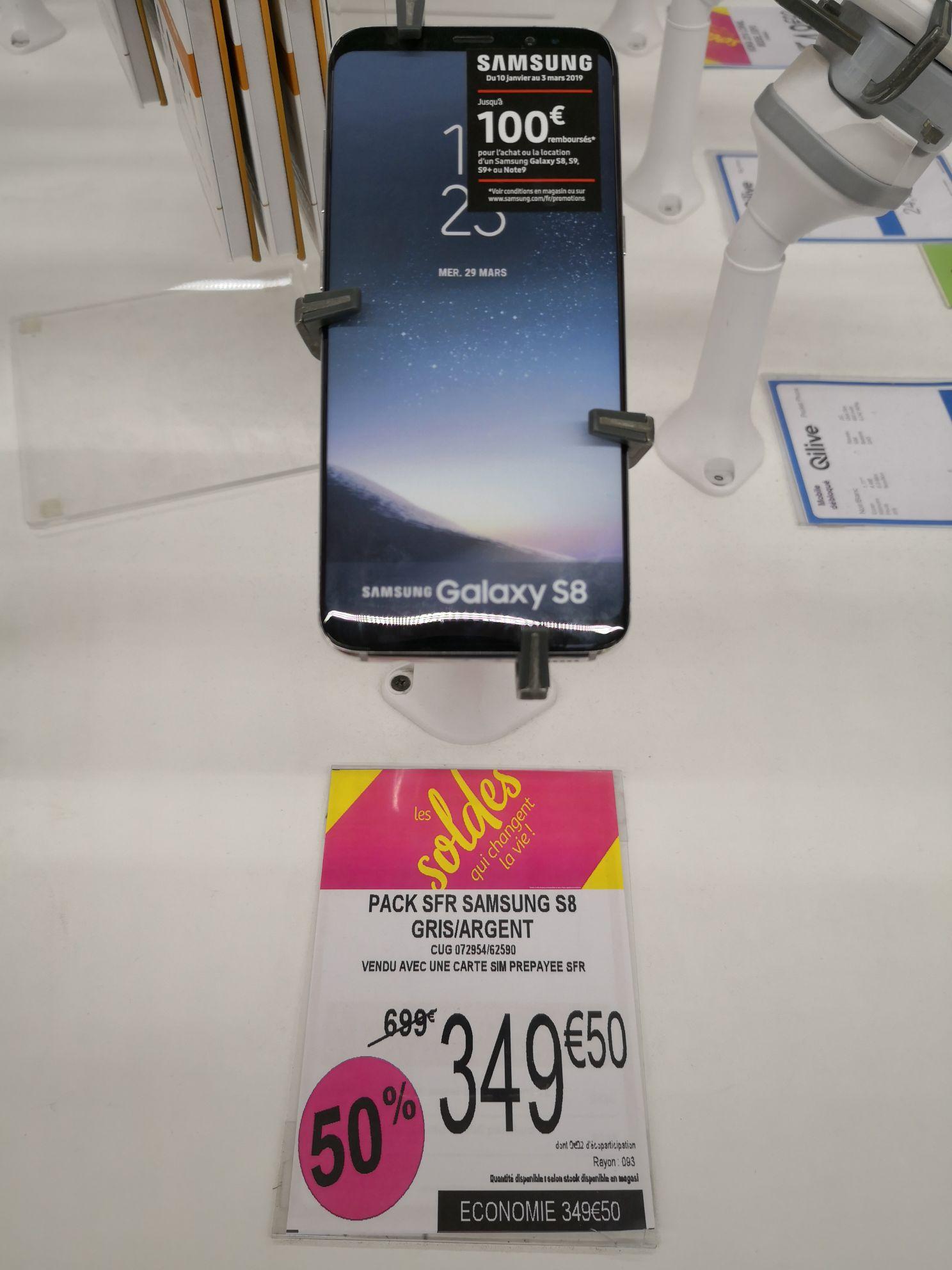 "Smartphone 5.8"" Samsung Galaxy S8 - 64 Go (via ODR de 100€) - Saint-Jean-de-la-Ruelle (45)"