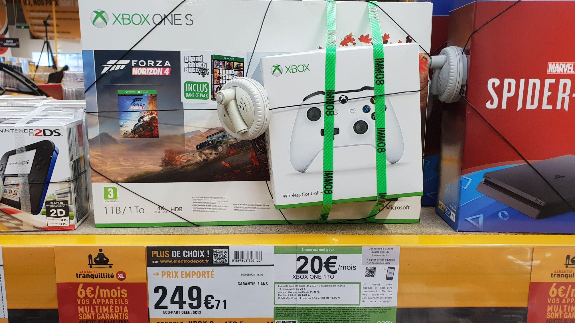 Console Microsoft Xbox One S 1to + 2ème Manette + Forza 4 + GTA 5 (electro depot Rennes St Grégoire 35)