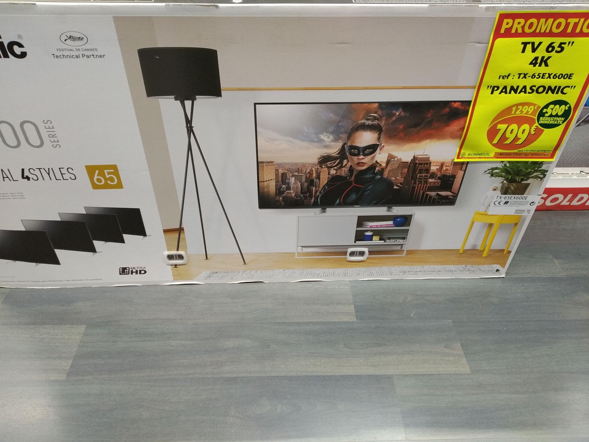 """TV 65"""" Panasonic TX65EX600E - Dalle VA, UHD 4K, HDR, smart TV (Bonneuil-sur-Marne 94)"""