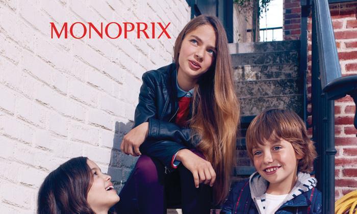 50% de réduction sur la catégorie mode chez Monoprix.fr