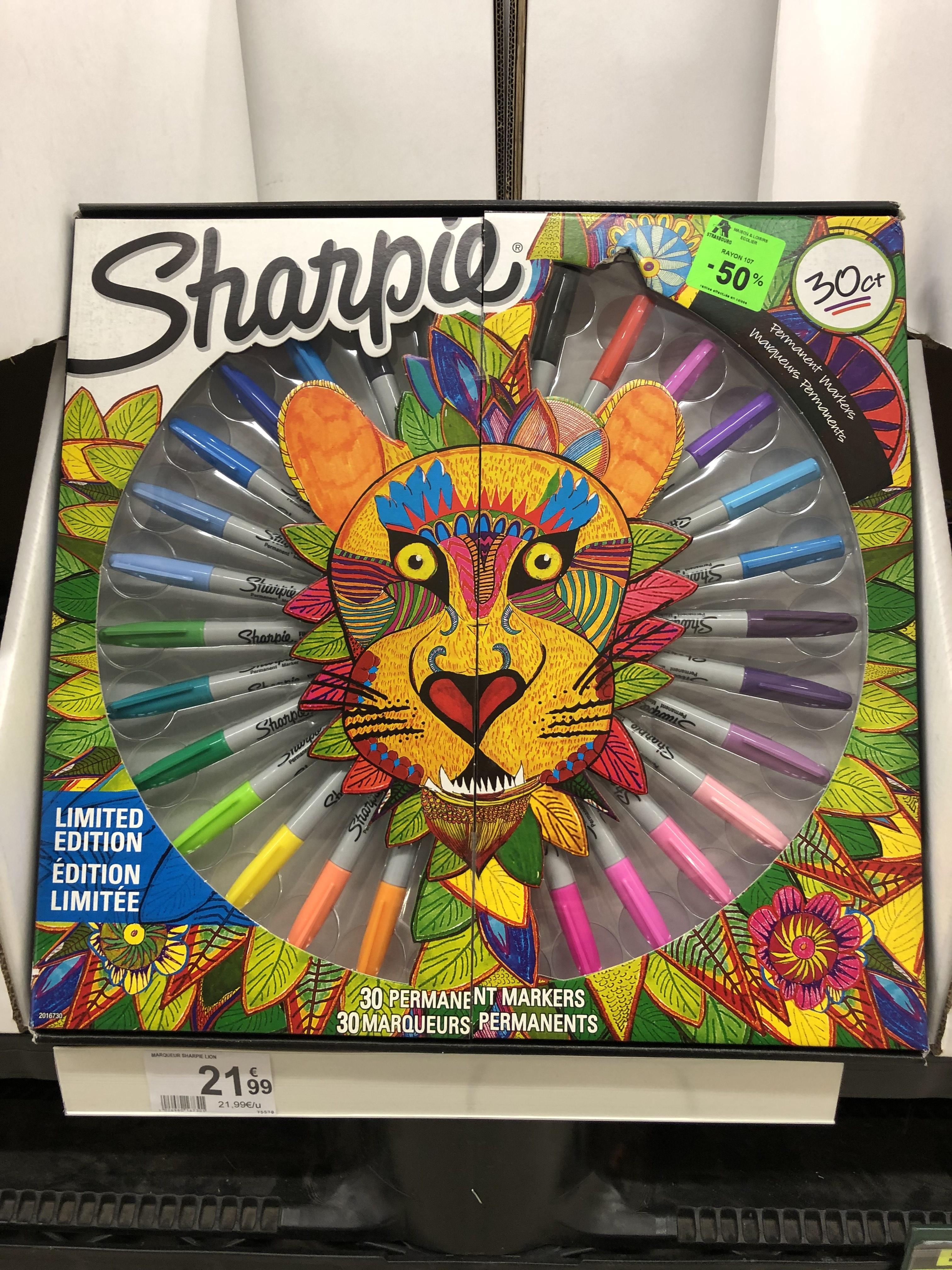 Pack Lion Édition Limitée Sharpie (30 Marqueurs Permanents) - Strasbourg (67)