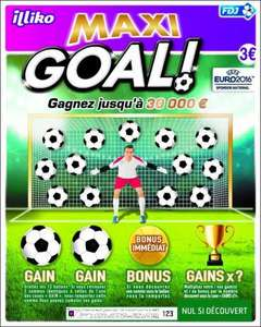 Jeux à gratter Goal + Maxi Goal (via shopmium)