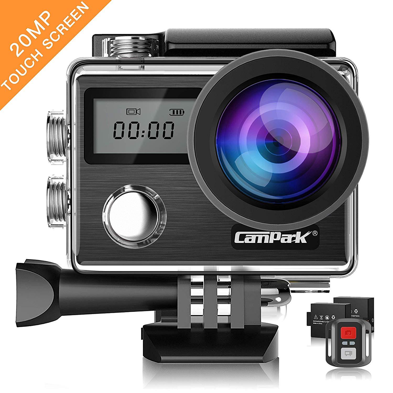 Action Cam Campark - 4 UHD, + 2 batteries + kits d'accessoires (vendeur tiers)