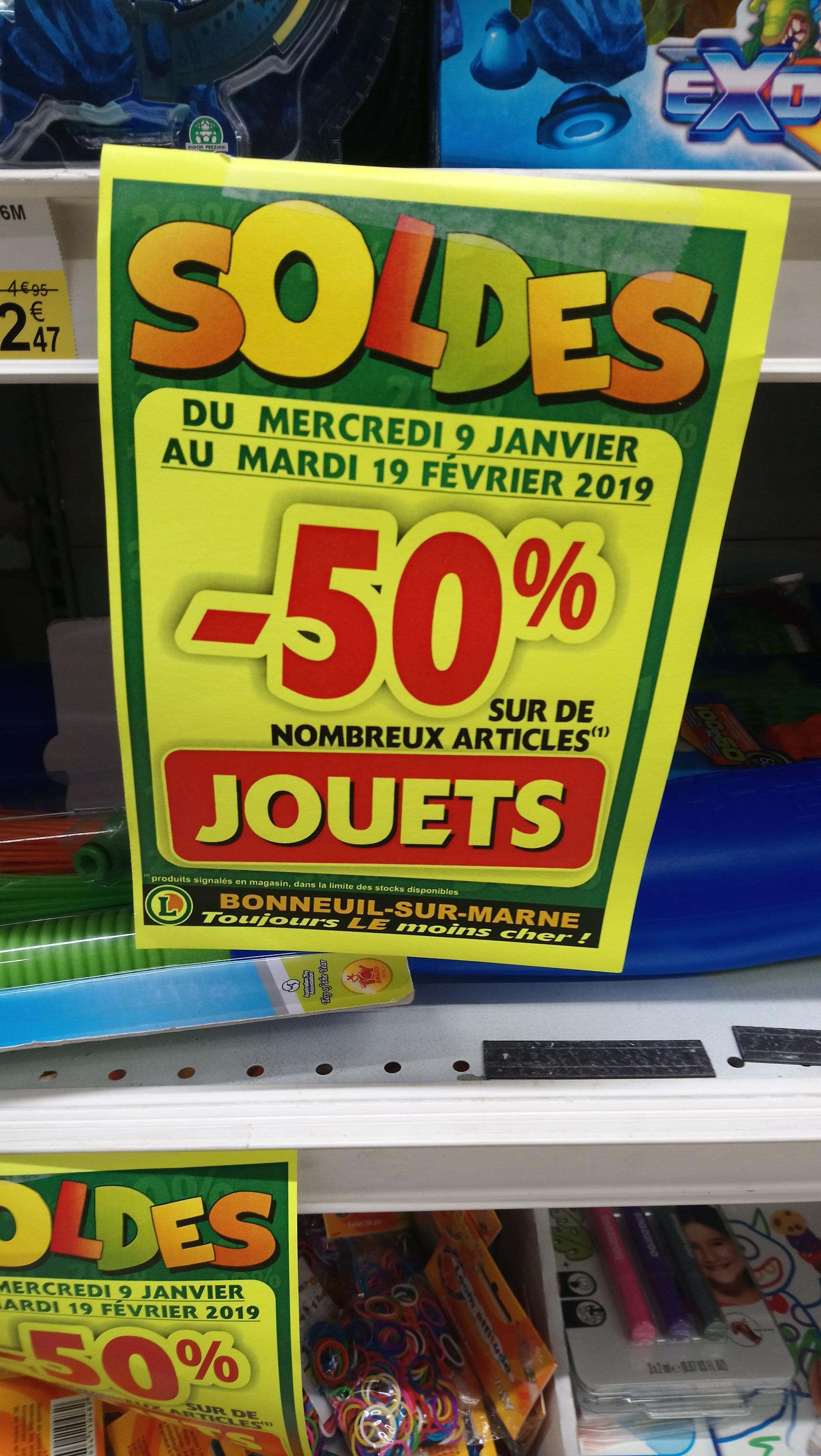 50% de réduction sur une sélection de jouets - Bonneuil (94)