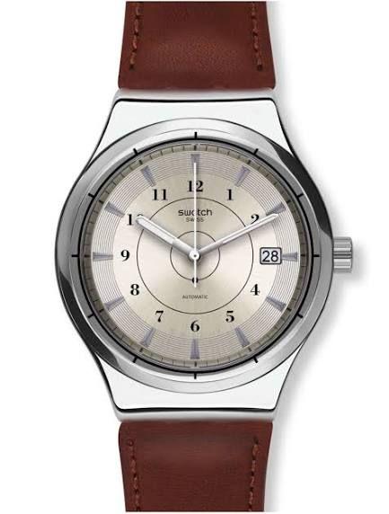 Sélection de montres en promotion - Ex : montre automatique Swatch Sistem Earth YIS400 (Elsass-Bijouterie.com)