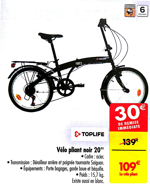 """Vélo pliant 20"""" Toplife"""