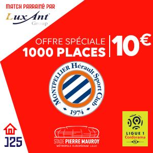 Place pour le match de Football Lille vs Montpellier le dimanche 17 Février