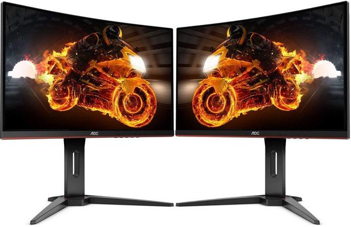 "Pack 2 Ecrans PC incurvés 24"" Dual Screen AOC C24G1 -  FreeSync, Dalle VA, 1ms, 144Hz"