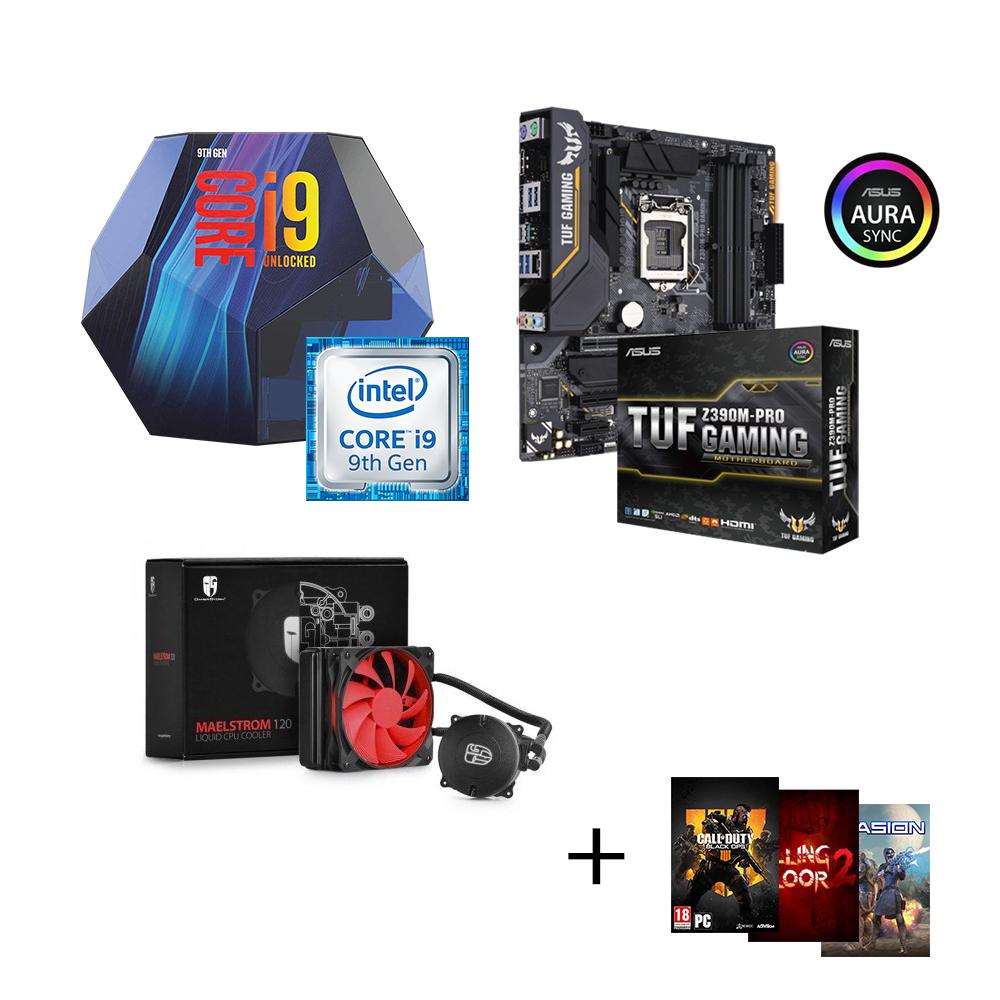 Kit PC - Intel i9-9900K (8x3,6Ghz, 5.0GHz) +  ASUS TUF Z390-PLUS GAMING + Watercooling CSL Maelstrom 120 + 3 jeux offerts (csl-computer.com)