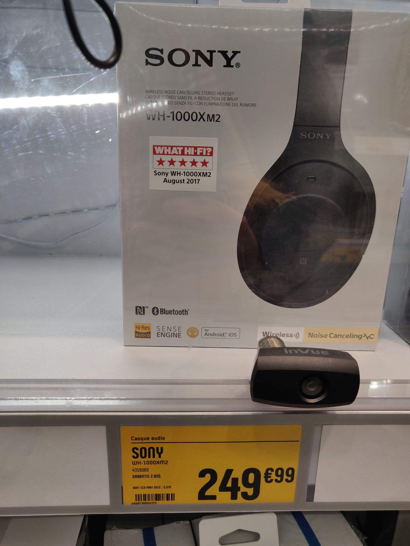 Casque Bluetooth à réduction de bruit Sony WH-1000XM2 - Bay 2 Torcy (77)