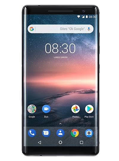 """Smartphone 5.5"""" - Nokia 8 Sirocco - QHD, 128Go de ROM, Snapdragon 835, 6Go de RAM"""