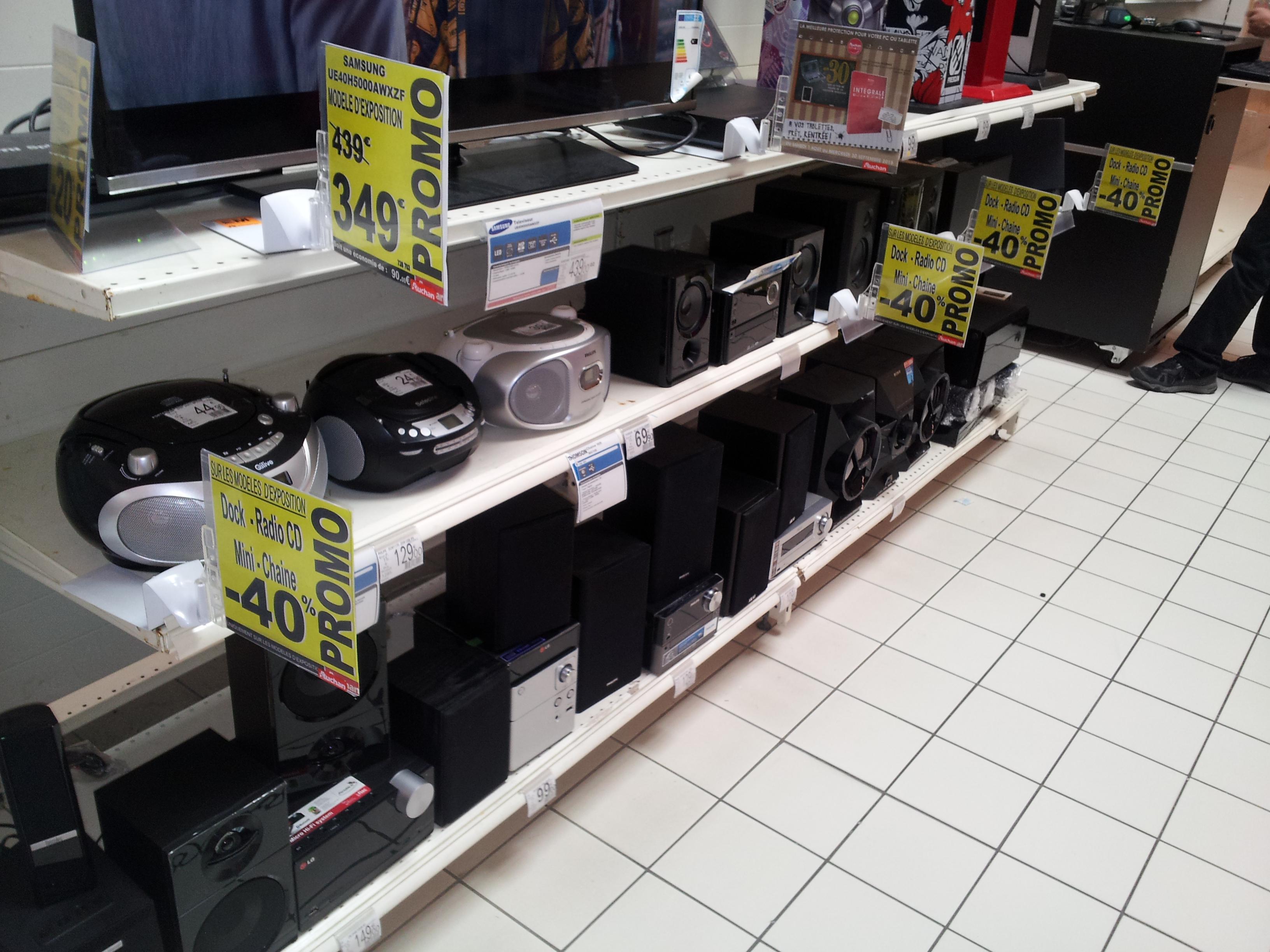 Destockage, vente de modèles d'exposition - Ex : Micro-chaine Hi-Fi Sony MHC 619