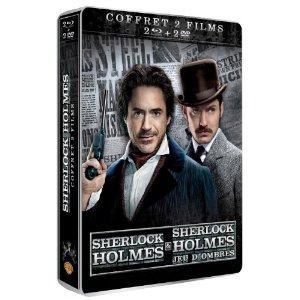 Sherlock Holmes 1 & 2 (Sherlock Holmes & Sherlock Holmes : Jeu d'ombres) - Coffret Combo Boitier Métal Blu-Ray + DVD