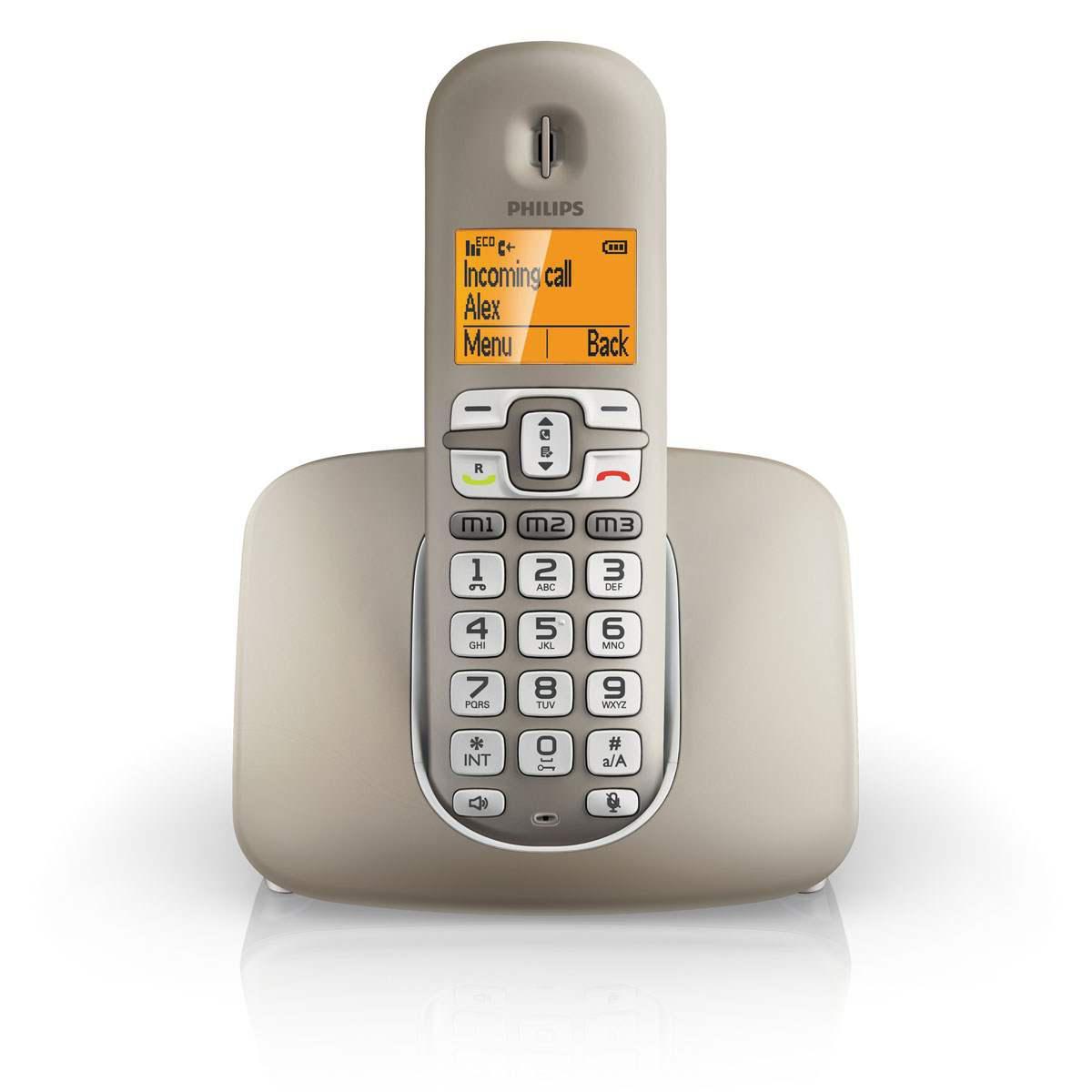 Telephone fixe sans fil Philips XL390