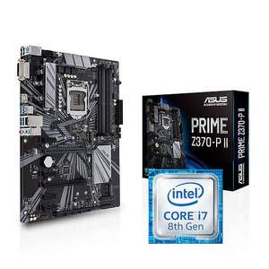 Kit Upgrade Processeur Intel i7-8700 + Carte mère Asus Z370-P II - ATX (381.24€ avec le code WARPZONE)
